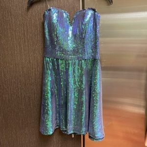 Sequin strapless dress mermaid ready